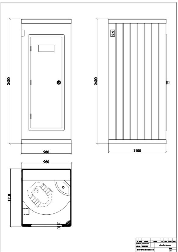 Bản vẽ nhà vệ sinh di động thứ 3 trong năm 2017