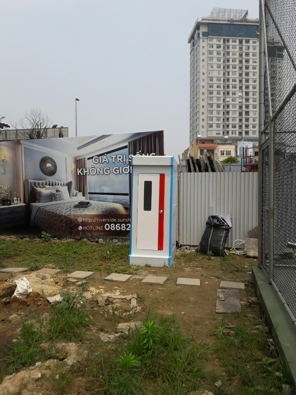 Nhà vệ sinh di động H17.2 sử dụng tại công trường