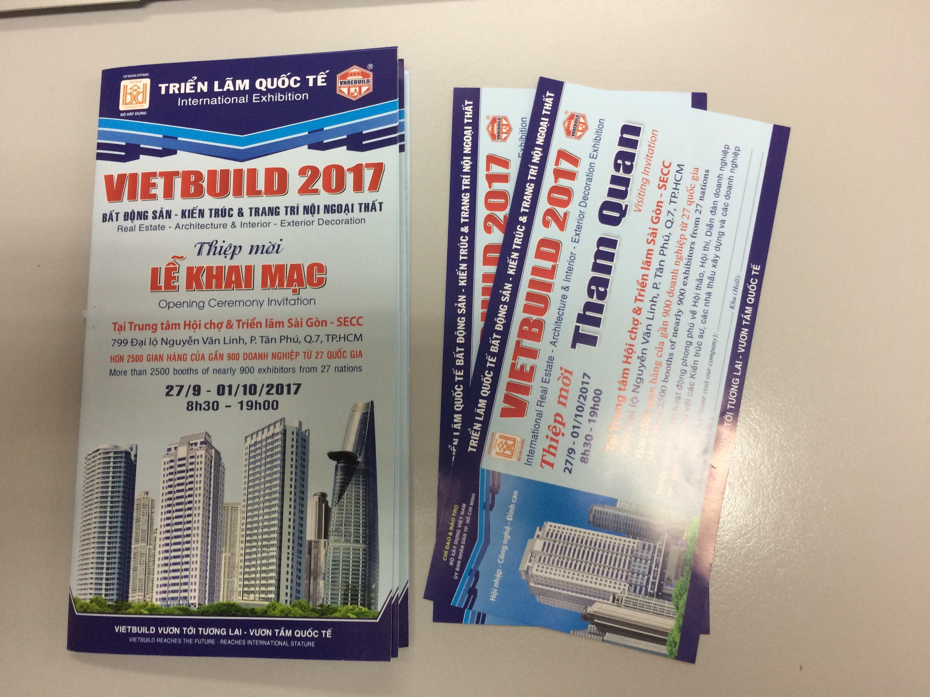Vé mời tham quan triển lãm VietBuil 2017