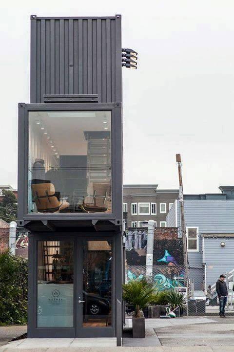 Mẫu thiết kế căn hộ container 3 tầng