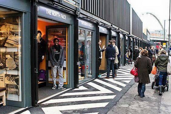 Khu mua sắm được làm từ container