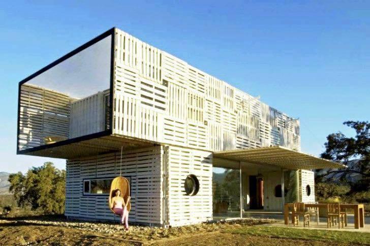 Mẫu số 19: Nhà container thiết kế kiểu biệt thự