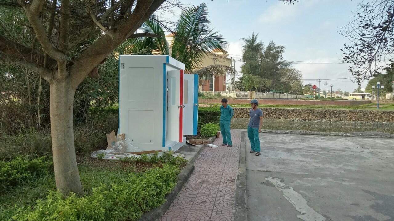 Nhà vệ sinh di động handy H17.2 tại công viên TP Đồng Hới