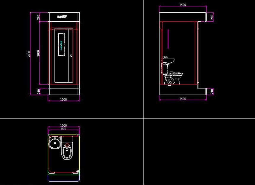 Nhà vệ sinh di động H17.2 model 2020