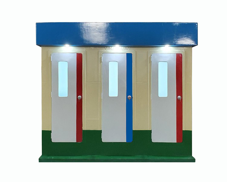 Mẫu nhà vệ sinh di động 3 phòng model 2020