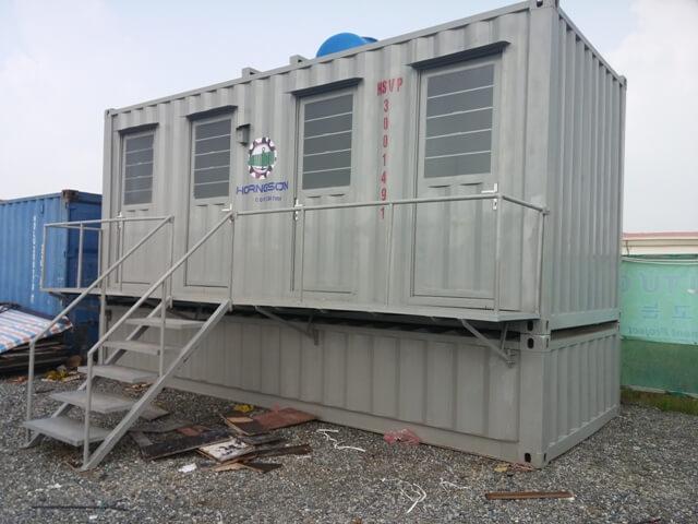 Container nhà vệ sinh di động bàn cầu cao