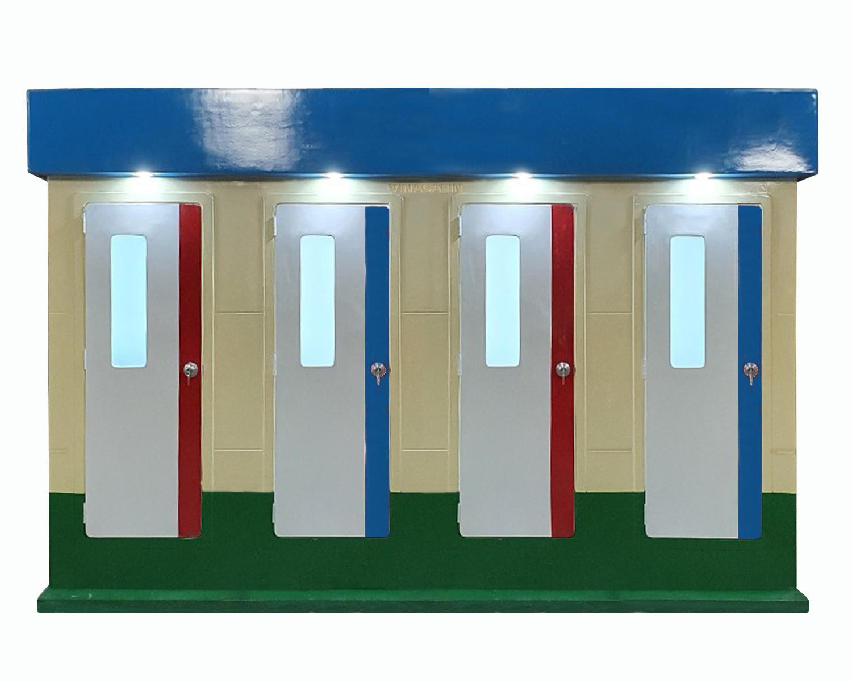 Nhà vệ sinh công cộng 4 cabin