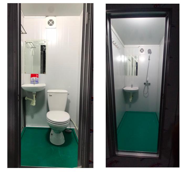 Nội thất nhà vệ sinh dã chiến HMT05